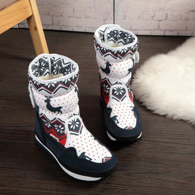 Botas de Invierno para mujer, zapatos cálidos para mujer, botas de nieve para mujer, botas de gamuza para mujer, botas de lana 30% de ciervo de Navidad, zapatos cómodos para mujer