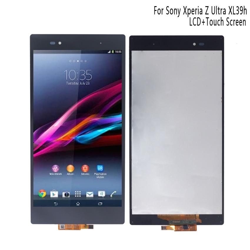 Pour SONY Xperia Z Ultra XL39h XL39 C6833 LCD écran tactile numériseur pour SONY Xperia Z Ultra affichage avec cadre téléphone LCD