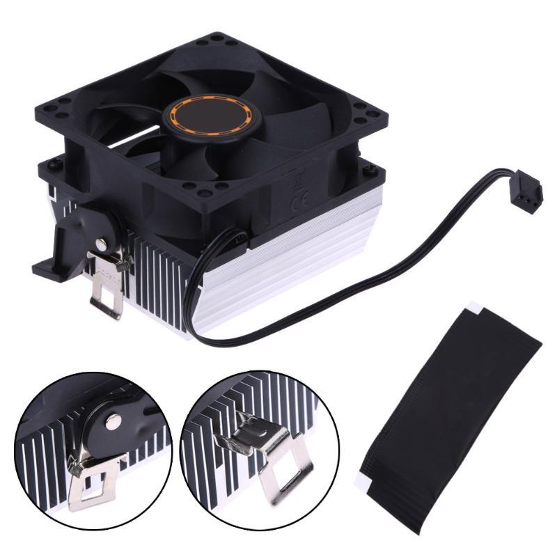 Silencioso cpu ventilador de refrigeração do dissipador calor refrigerador do radiador para amd754 939 940 amd athlon64 5200 + computador sistema ventilador de refrigeração