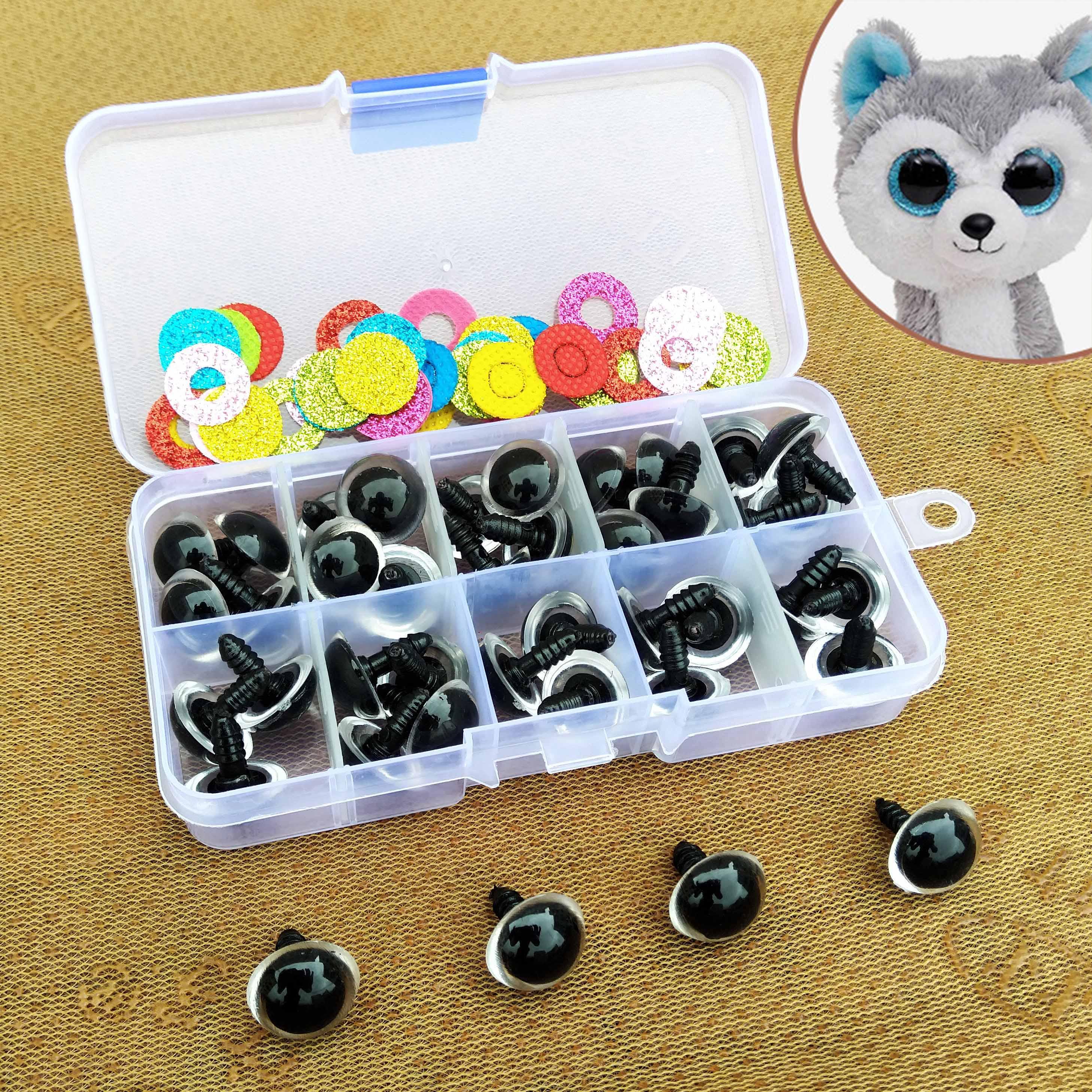 16mm Safety Plastic Colorful Doll Eyes For Toy Crochet Stuffed Animals Dolls Crafty Amigurumi Eyes For Toy Plush Accessories