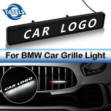 ABS 크롬 그릴 엠 블 럼 배지 LED 장식 조명 자동차 로고 스티커 BMW M 1 3 4 5 6 7E Z X M3 M5 F34 G30 분위기 조명