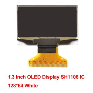 1.3 0.91 0.42 Inch OLED Display SH1106 IC SSD1306 IIC Interface 14Pin Resolution 128X64 12864 72X40 128X32 White Blue DC 3.3V-5V