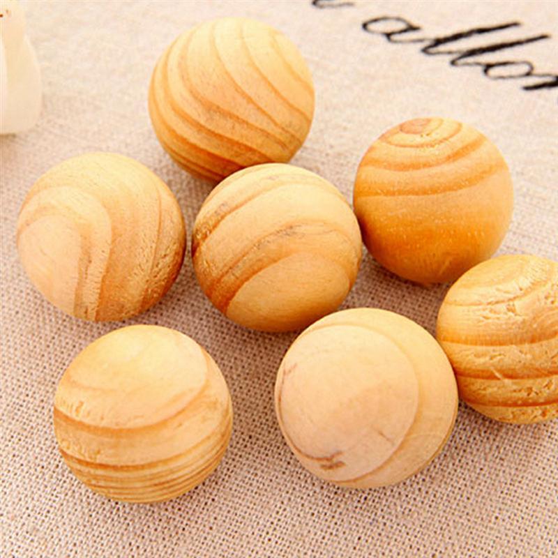 20 unids/pack de bolas de madera cedro Natural repelente de polillas para cajones cajas de almacenamiento Closets