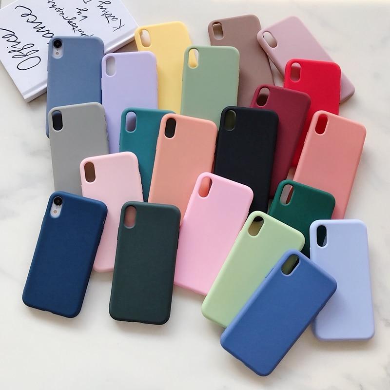 Силиконовый чехол для iPhone 7 8 Plus, задняя крышка, мягкий ТПУ чехол для телефона iPhone X XS 11 Pro Max XR 6 6S Plus SE 2020, чехол, чехол, Etui