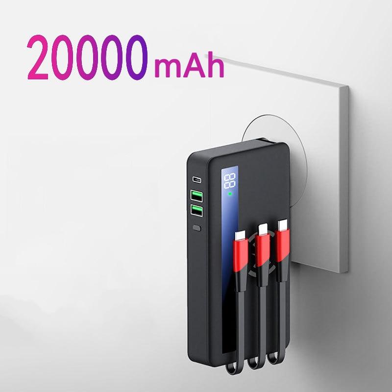 تشى اللاسلكية شاحن قوة البنك 20000mAh PD 18W سريع شحن Poverbank المحمولة البطارية الخارجية شاحن تجدد Powerbank ل Xiaomi مي