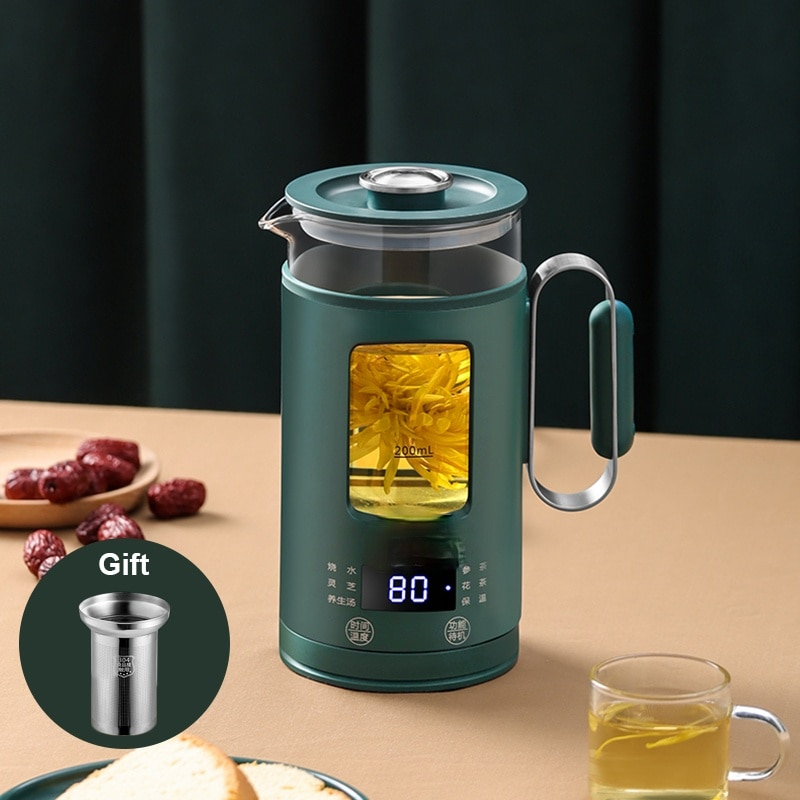 Protable Multifunction Electric Kettle Stainless Steel Health Preserving Pot with filter Glass Boiled Warm Tea Pot Hot Water cup health pot household tea maker multifunction electric kettle smart touch hot water heating insulation kettle decocting pot