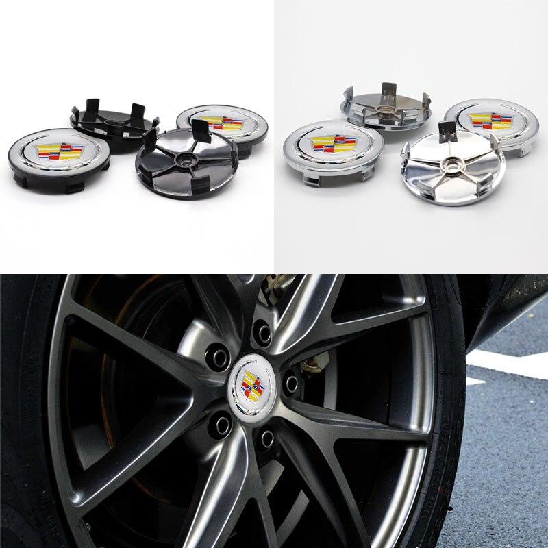 Крышка колеса автомобиля, Центральная крышка колеса, 4 шт. 60 мм, используется для Cadillac-модифицированные детали автомобиля по индивидуальном...