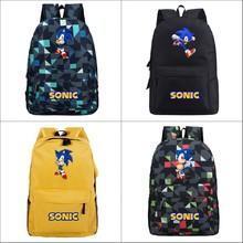 Cartoon Super Mario Bros Sonic Backpack Laptop Shoulders Bags Children Printing School Bag Girls Boys Mochi