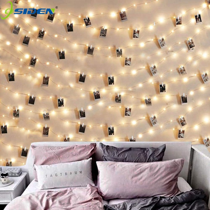 photo clips led string lights 1m 2m 5m 10m usb fairy garland lights battery powered light for christmas wedding party decoration LED String Lights 2M/5M/10M Photo Clip  Fairy Lights Outdoor Battery Operated Garland Christmas Decoration Party Wedding Xmas