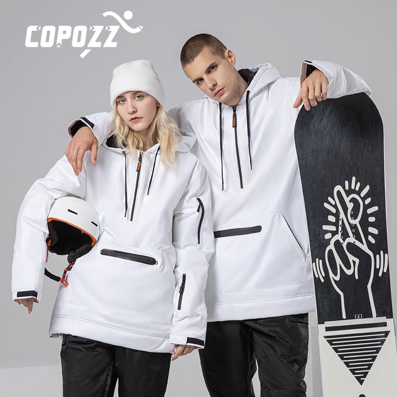 Copozz Breathable Men Women Ski Jacket Ski Pants Winter Warm Windproof Waterproof Outdoor Sports Snowboard Ski Coat Trousers