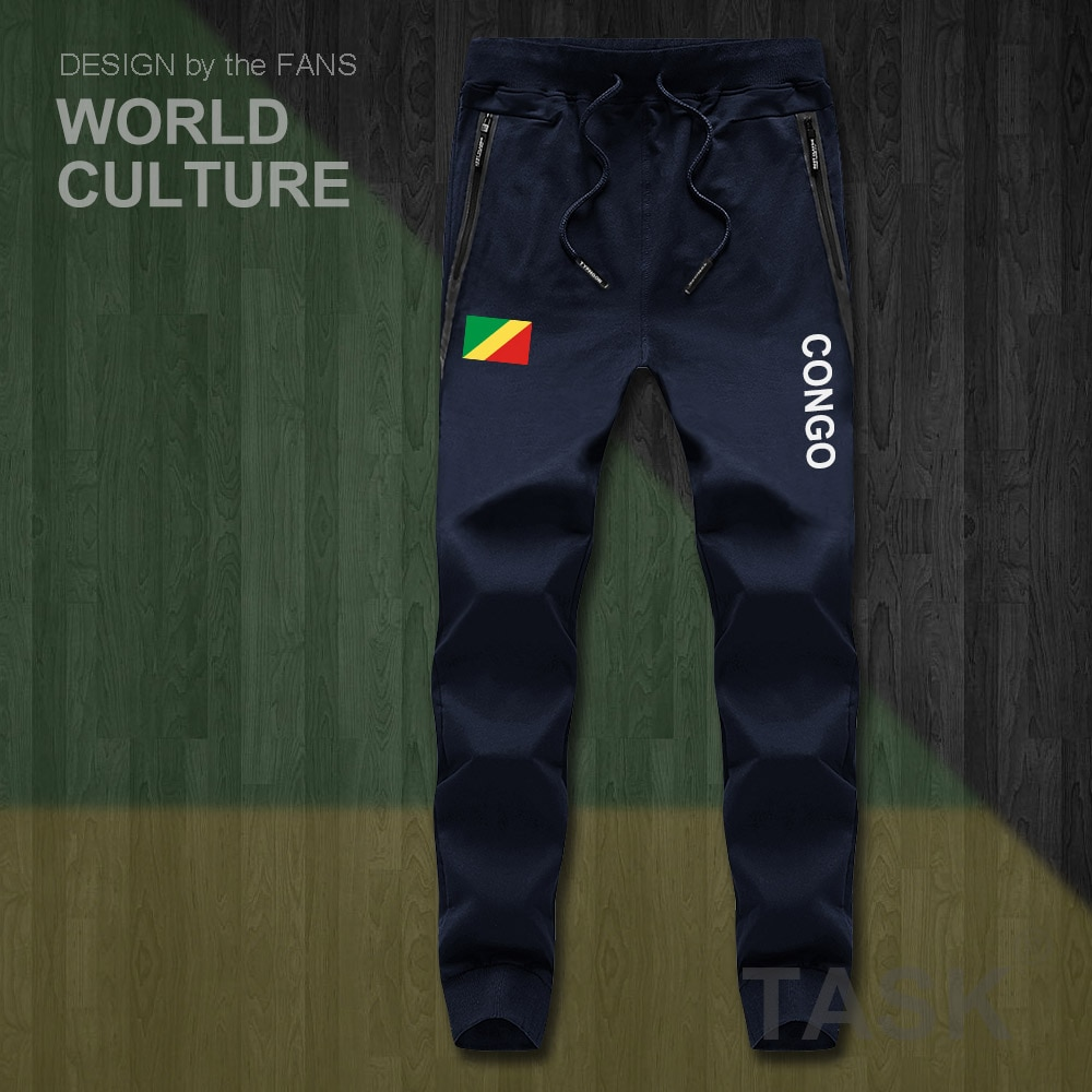 Congo Republic COG Congolese Mens Pants Joggers Jumpsuit Sweatpants Track Sweat Fitness Fleece Tacti