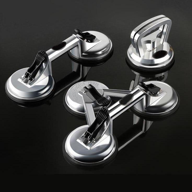 Ventosa de vidrio de aluminio de alta resistencia Placa de vacío doble mango profesional soporte ganchos Mover tirador Lifter Gripper