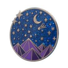 Die Nacht Gericht Emaille Pin Glitter Variante