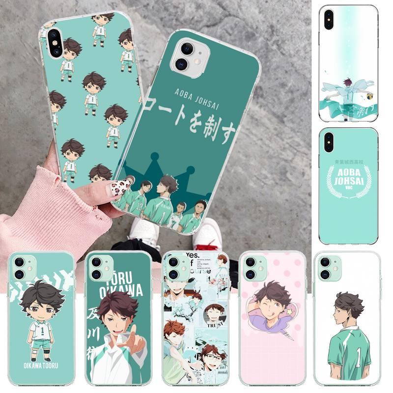Nbdruicai anime haikyuu oikawa luxo design exclusivo capa de telefone para iphone 11 pro xs max 8 7 6s plus x 5S se 2020 xr capa