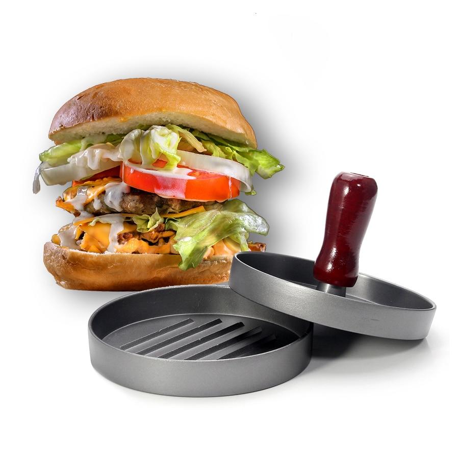 Prensa de hamburguesas antiadherente... molde párr hamburguesa Ideal para barbacoa decoración y...