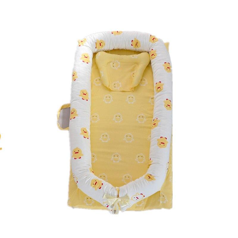 سرير محمول من القطن للأطفال ، سرير قابل للإزالة وقابل للغسل للأطفال ، سرير حديثي الولادة بتصميم قابل للفصل بالكامل