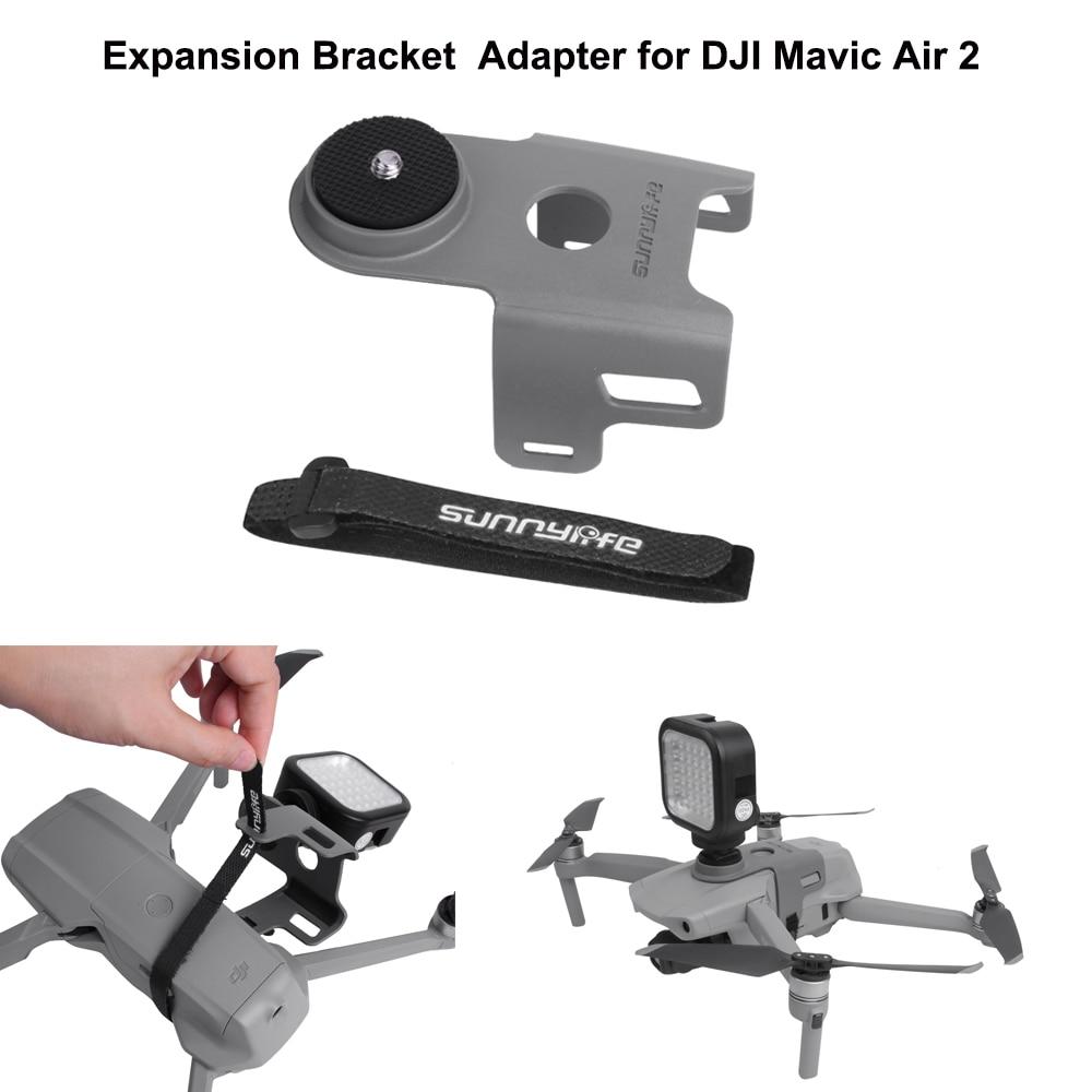 SUNNYLIFE-Adaptador de montaje de soporte de expansión para Gopro OSMO Action, Insta 360, soporte para cámara para DJI Mavic Air 2