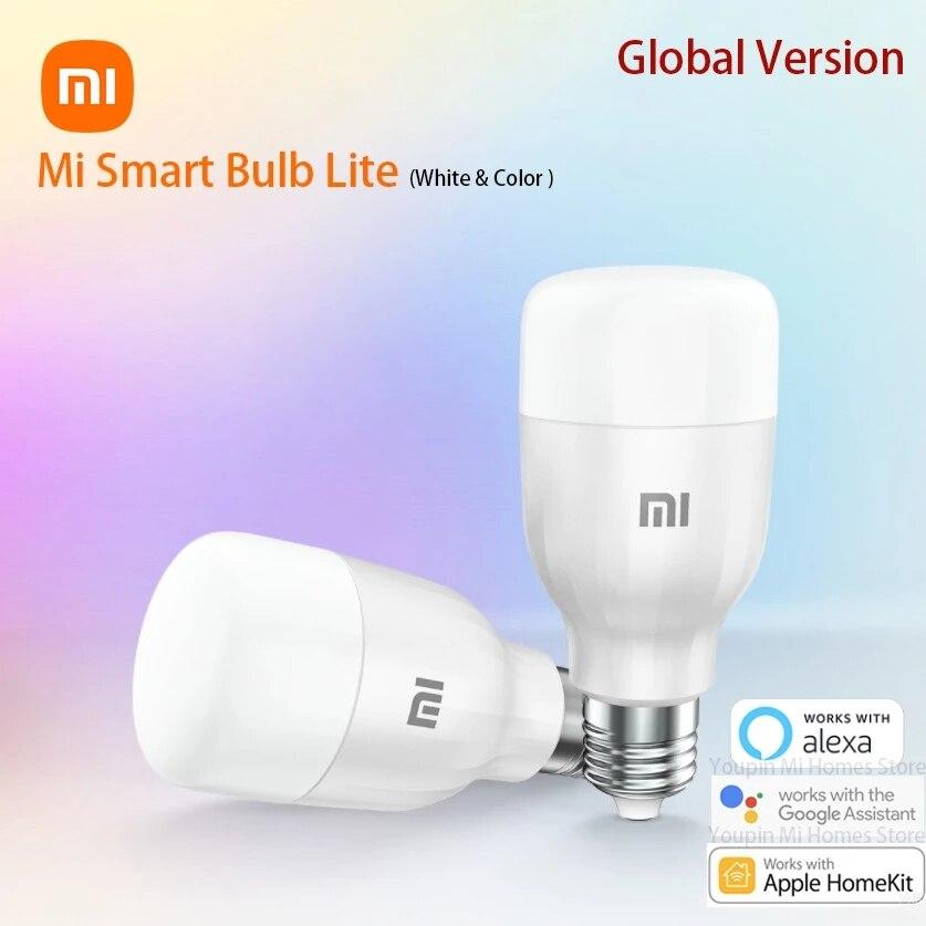شاومي الذكية مصباح لايت النسخة العالمية Led أضواء اللون LED APP واي فاي التحكم الصوتي درجة الحرارة لمبة غرفة ديكور أضواء الليل