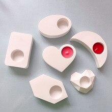 Различные формы подсвечник бетонные формы сердце Овальный подсвечник гипсовая форма квадратный Мини цветочный горшок цементная форма