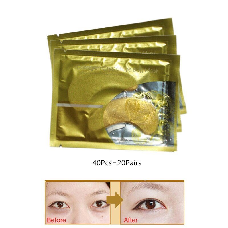 Коллагеновая Золотая маска для глаз InniCare, Антивозрастная маска для ухода за лицом, патчи для глаз N009, 40 шт./лот