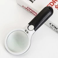 magnifier handheld illuminated magnifier microscope magnifying glass aid reading for seniors loupe jewelry repair tool