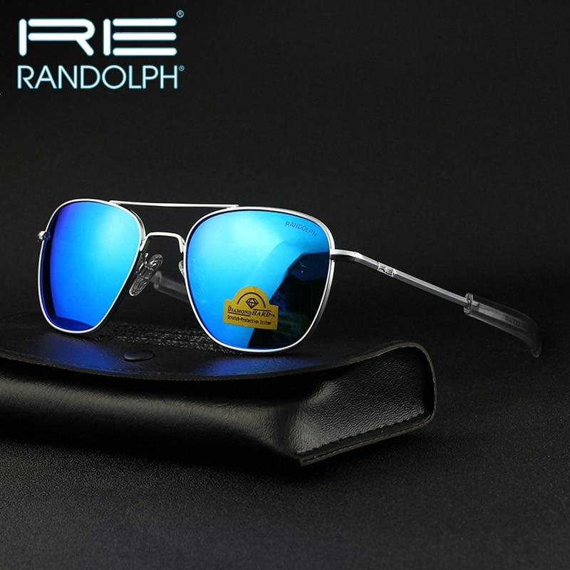 Randolph RE Sunglasses Men Woman Brand Designer American Army Military Sun Glasses Aviation AGX Temp