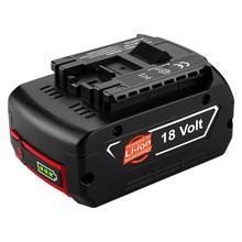 ELEOPTION 18V 6.0Ah 6000mAh Li-ion Battery for Bosch BAT609 BAT618 17618 BAT618G BAT609 GDR 18-LI, GDS 18V-LI,with Led Light