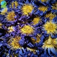 organic blue lotus dried whole blooming flower nymphaea caerulea