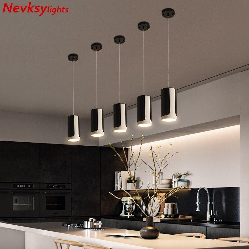 Lámparas colgantes minimalistas, lámpara colgante para loft, lámpara colgante negra para comedor, lámpara colgante led para cocina, iluminación colgante para isla de cocina