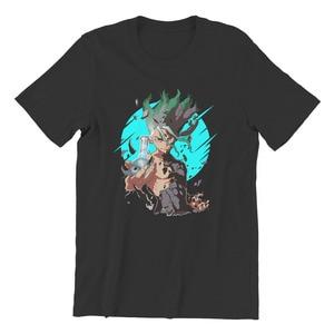 Men's T-shirt Dr Stone Essentials Kawaii SleeveStreetwear Mens Clothes 44236