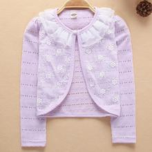 2021 Girls Outerwear 100% Cotton Yellow Girl Jacket Cardigan Sweater For 1 2 3 4 5 6 7 8 Years Girls