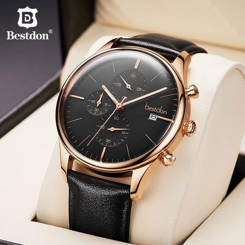 Bestdon Mens Watch Luxury Brand Fashion Chronograph Clock Quartz Sport Pilot Man Watch 2020 Gift For Boyfriend Relogio Masculino