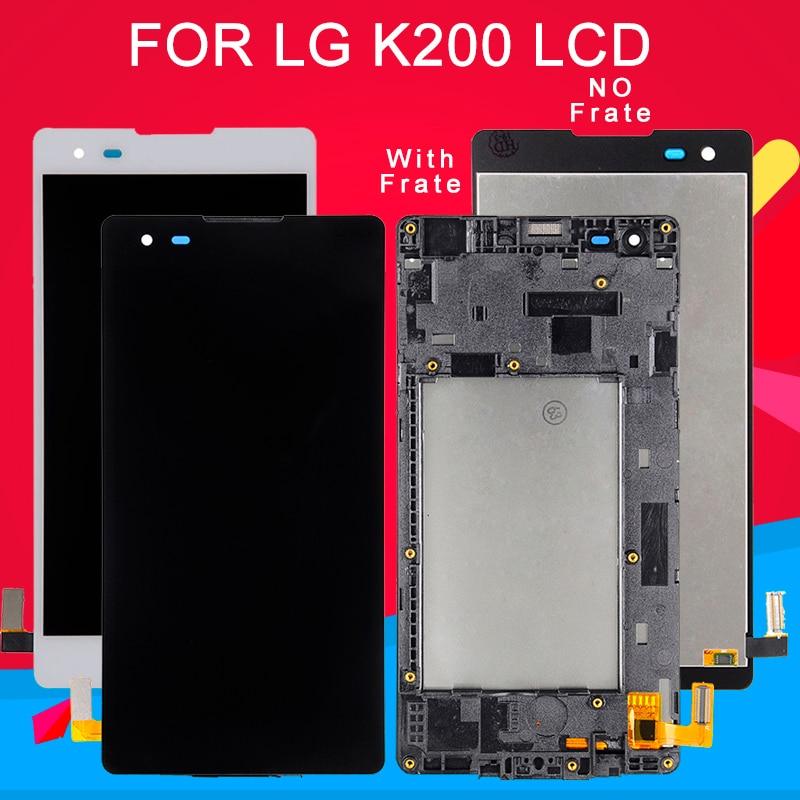 Dinamico lcd para lg x estilo k200 display com tela de toque digitador assembléia k6 lcd k200ds k200f display com quadro + ferramentas