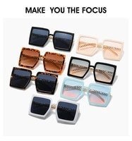 2021 new fashion brand women square gradient vintage polygon frame sun glasses feminine gafas oculos eyeglasses ocean lens uv400