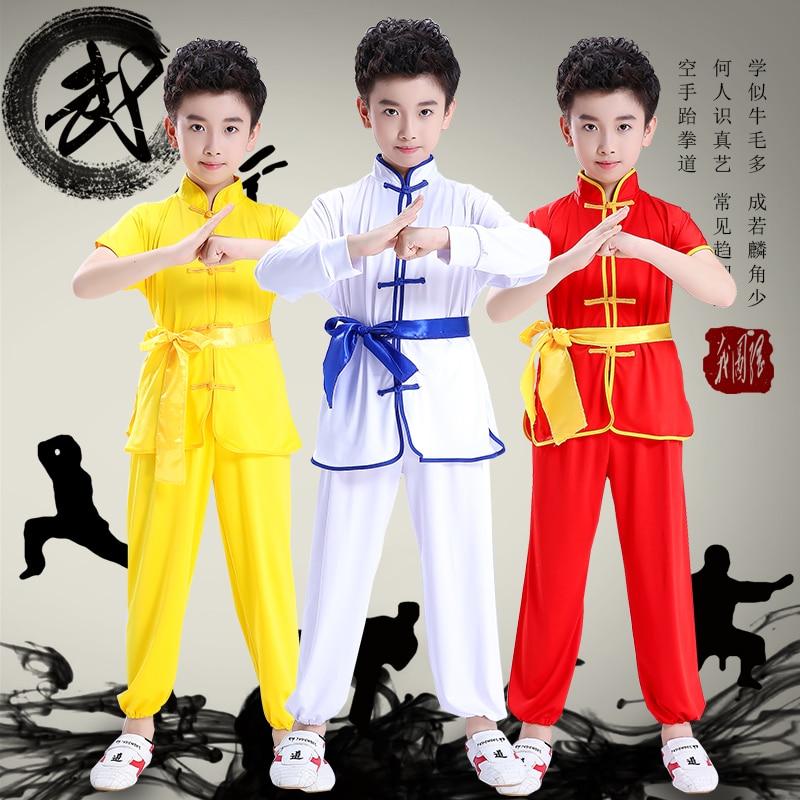 Детский костюм кунг фу в китайском стиле традиционная форма Тай Чи детская Shaolin
