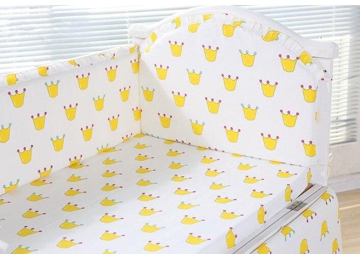 6pcs crib bedding kit bedding sets cotton kit berço crib bumpers Toddler Bed Protectors (4bumpers+sheet+pillow cover)