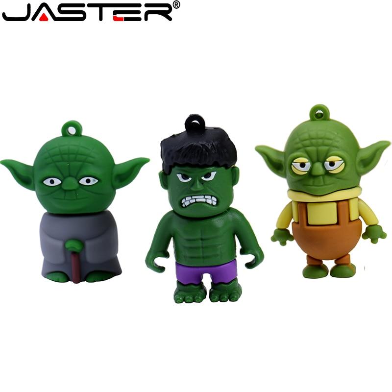 Usb jaster 2,0, memoria usb de star wars, memoria flash, memoria flash de 128GB 64GB 32GB 16GB 8GB 4, gb de memoria flash de alta velocidad, pendrive de dibujos animados