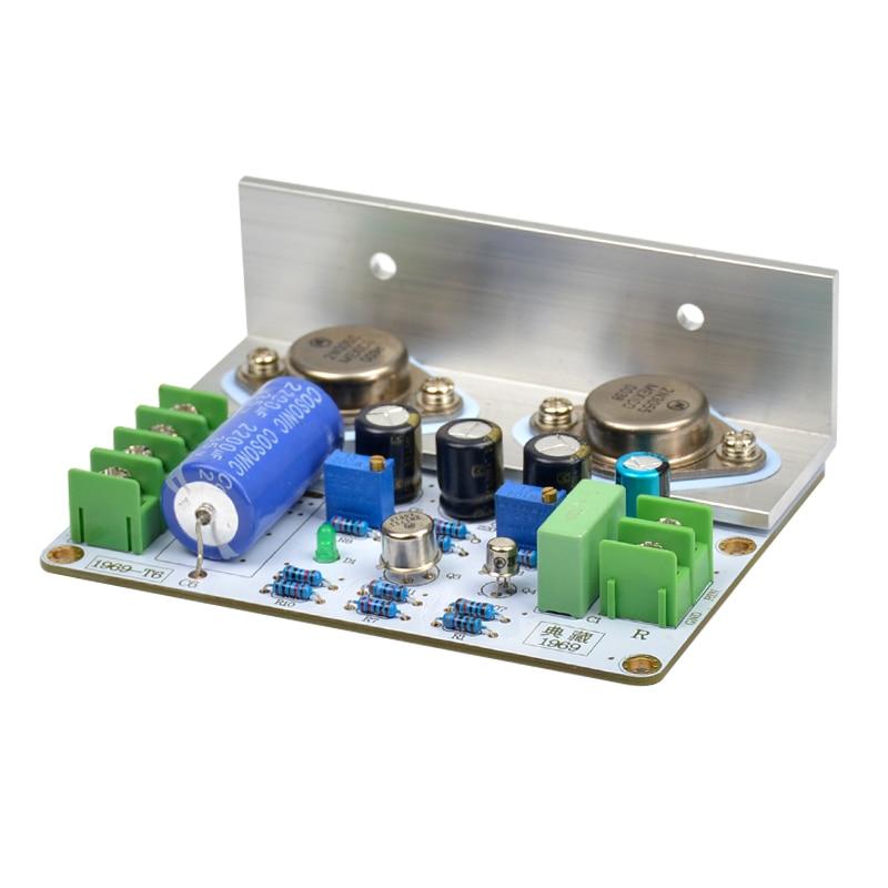 Qualidade 1 pces 1969 classe a placa de amplificador de potência 10-15w amplificador de áudio de alta fidelidade mot/2n3055 pcb montado placa e kits diy