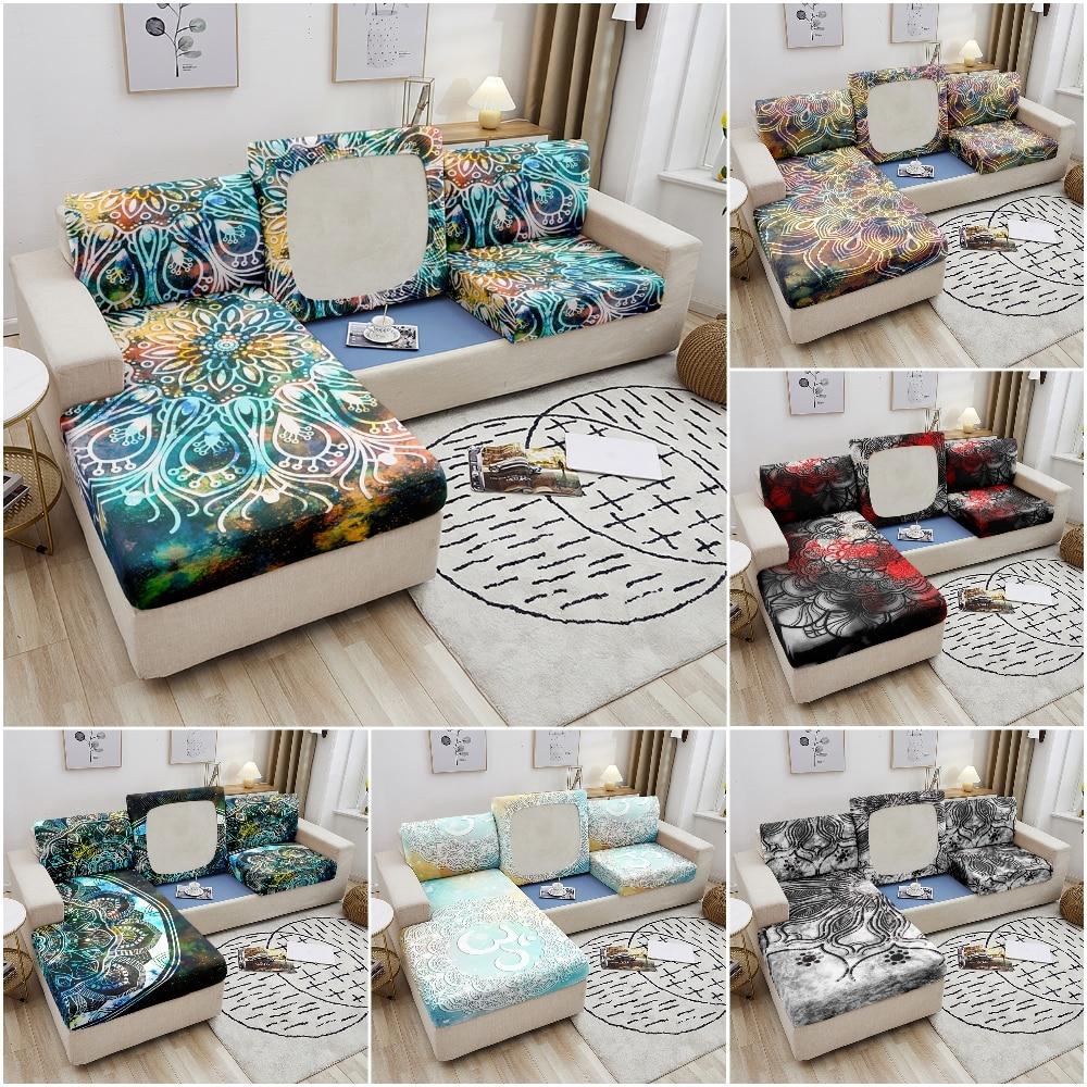 Эластичный чехол для дивана Mandala, чехол для подушки, защита от грязи для мебели, чехол для дивана, угловой чехол для дивана, чехлы для гостино... чехол