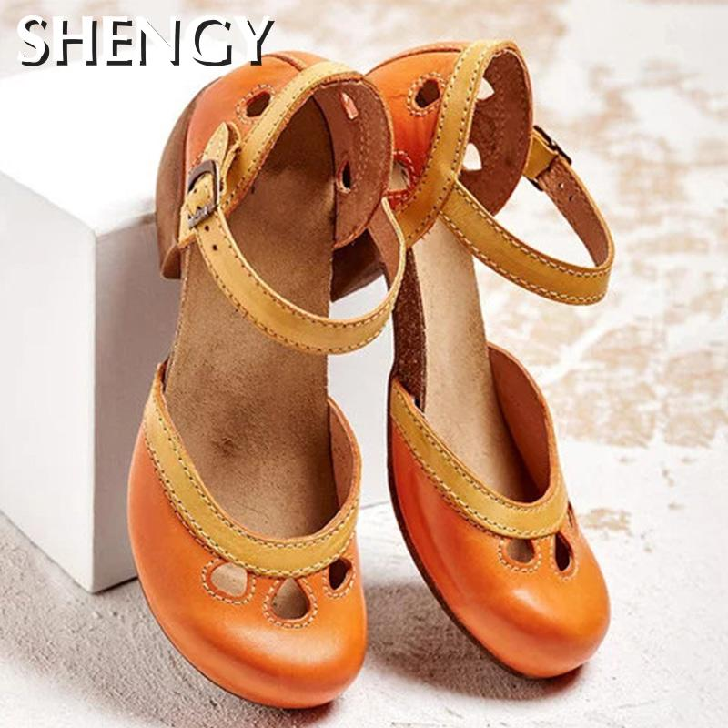 Zapatos De Mujer, Sandalias De verano, zapatillas Mid High, Zapatos con hebilla...