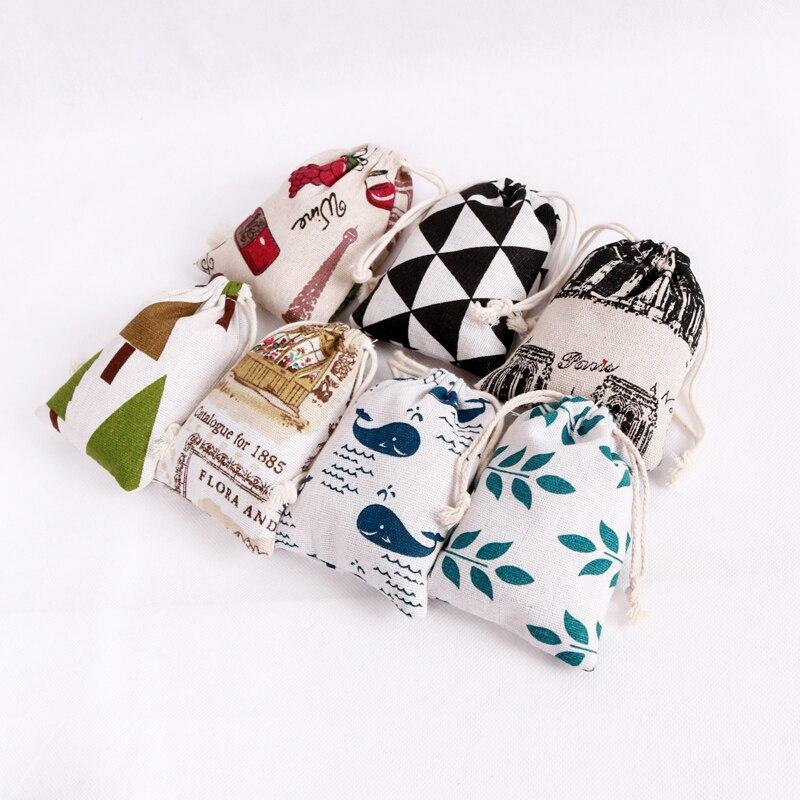 Heißer 10 teile/los Schöne Baumwolle Taschen 8x10cm Blume Design Schmuck Ladung Display Verpackung Kordelzug Geschenk Beutel Billig kleine Taschen
