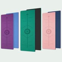 Tapis de Yoga TPE à Double couche, matelas de danse de couleur pour lentraînement et le Fitness antidérapant, 183*66cm * 6mm