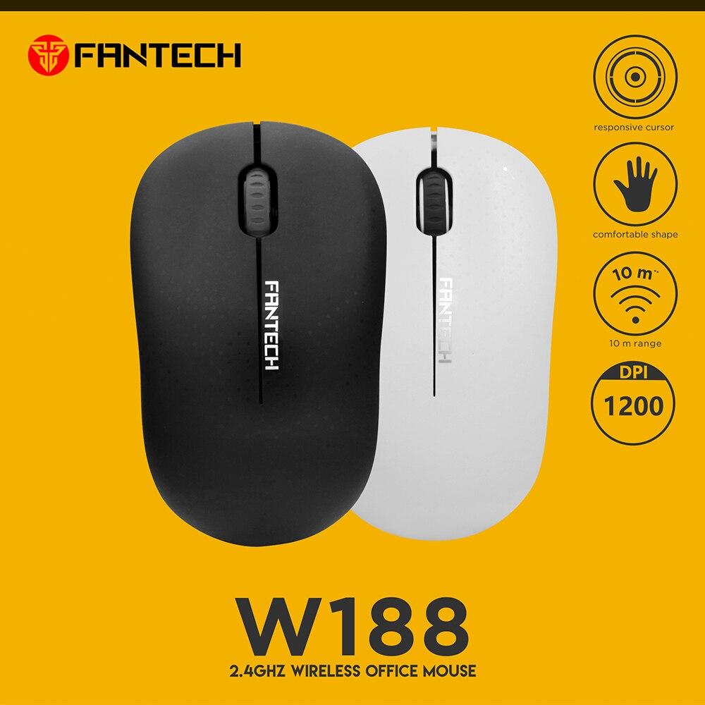 Ratón inalámbrico FANTECH W188 2,4G, 3 botones, ratón de oficina, 10M, rango WiFi, ratón de ordenador de alta calidad, 5 millones de veces la vida clave