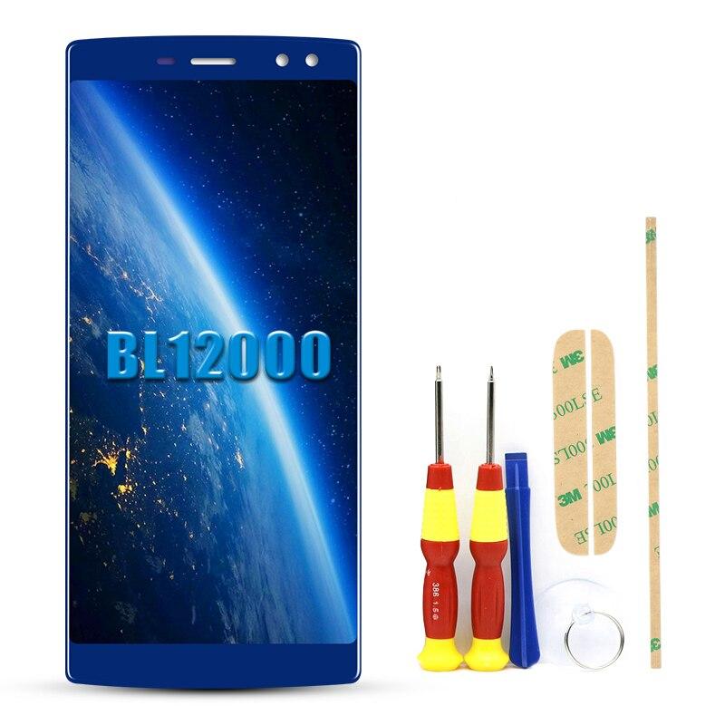 "6,0 ""para Doogee BL12000 LCD MONTAJE DE digitalizador con pantalla táctil bL 12000 Doogee BL12000 Pro LCD negro/piezas de reemplazo azul"