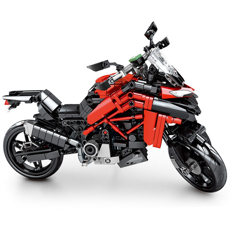 Motorcycle Serise Radical Matador Motor Buggy Motorbike Speed Race Car Sports Building Blocks Moc Bricks Sets Kits Model
