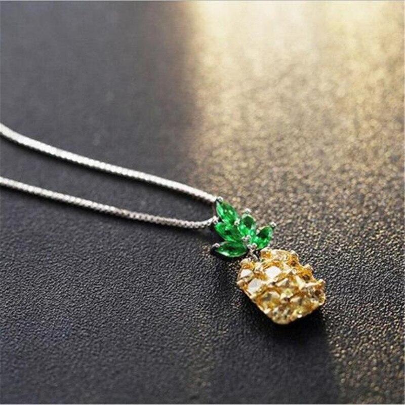 ¡Nuevo! Collar de moda lulul-pig con piña de estilo coreano, mini collar N0217