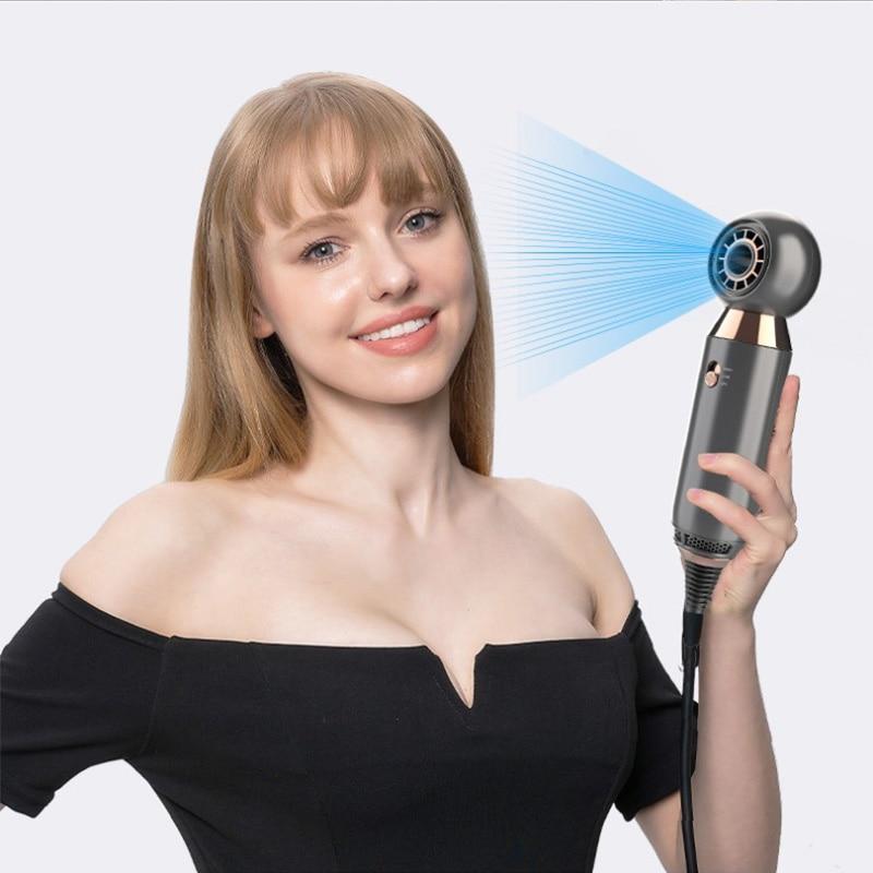 Professionele Haardroger High Speed Bladloze Haardroger Temeperature Controle Salon Droger Hot & Cold Wind Negatieve Ionische enlarge