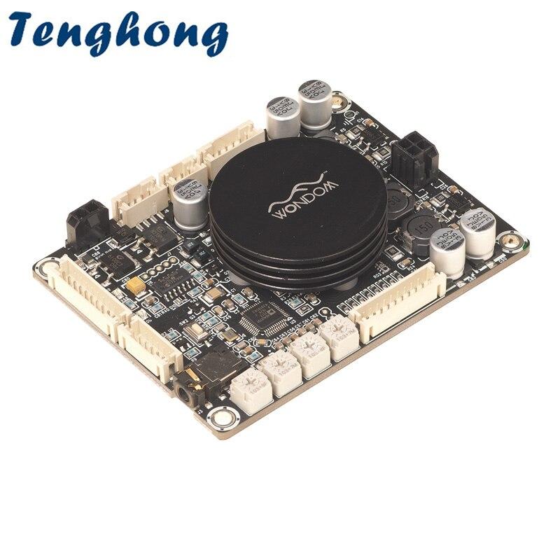 Tenghong-مضخم صوت عالي الدقة 50 واط × 2 فئة D ، لوحة طاقة صوتية ، مع DSP ، كروس إلكتروني ، قابل للتعديل ، من أجل DIY