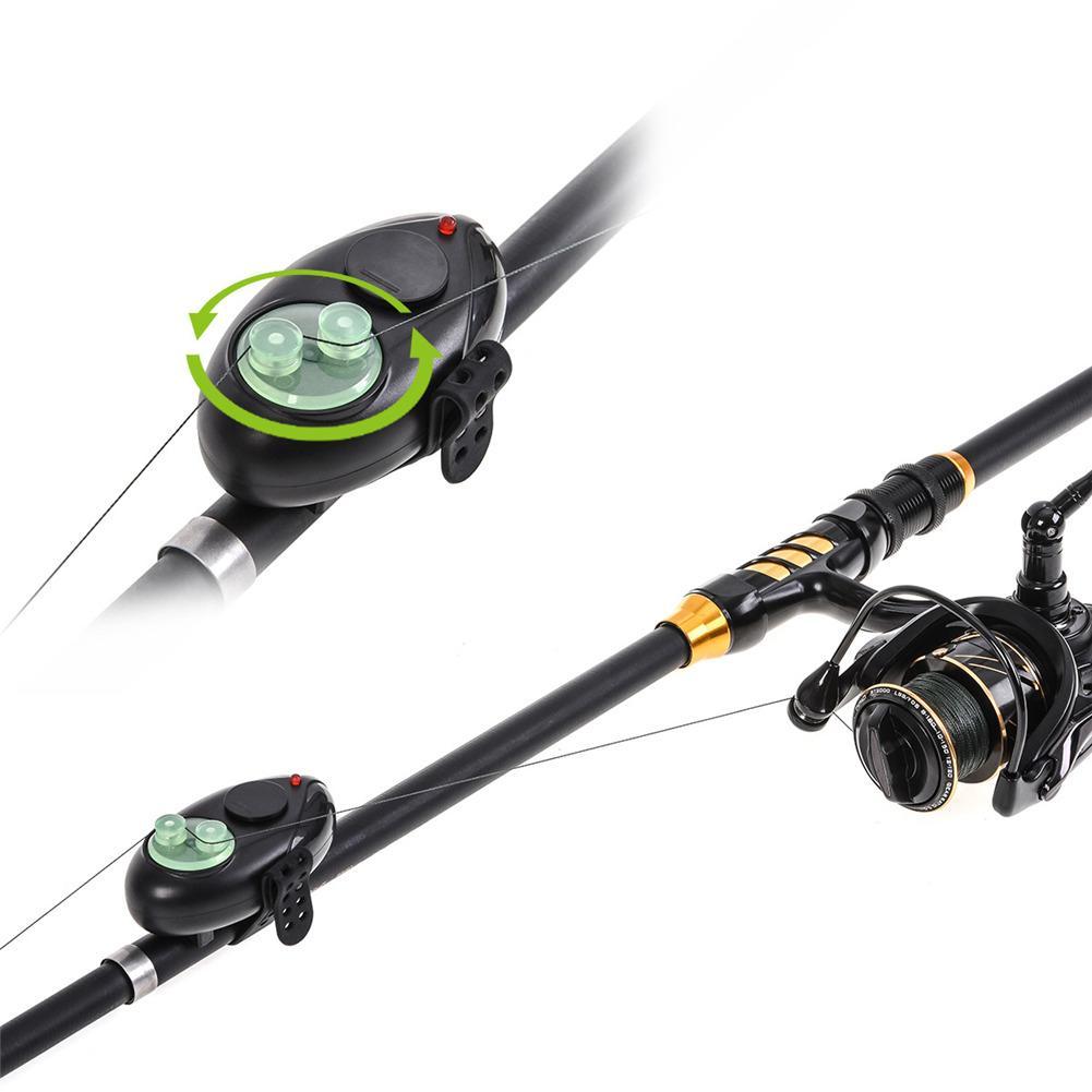 Alarma electrónica de pesca de mordida, indicador de luz LED, amortiguador inalámbrico, alarma de sonido negro, carpa, pesca nocturna