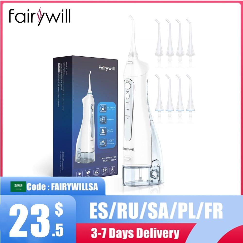Fairywill فرشاة أسنان صوتية بالكهرباء و جهاز تنظيف الأسنان بالماء USB تهمة للماء 5 طرق 3 فرشاة رؤساء فرشاة الأسنان الأسنان نظافة